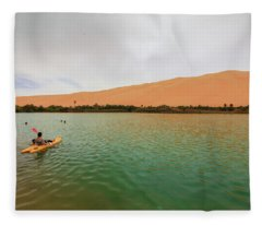 Libyan Oasis Fleece Blanket