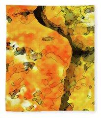 Lichen Abstract Fleece Blanket