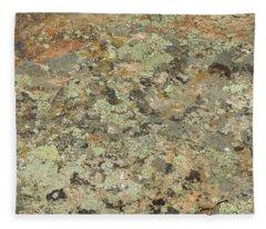 Lichens On Boulder Fleece Blanket