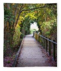 Life Beyond The Path Fleece Blanket