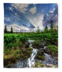 Life Giving Stream Fleece Blanket