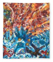 Life Ignition Mural V3 Fleece Blanket