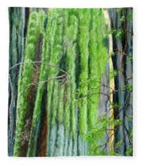 Life In A Redwood Forest Fleece Blanket