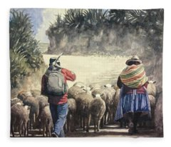 Life In Peru Fleece Blanket