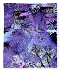 Life In The Ultra Violet Bush Of Ghosts  Fleece Blanket