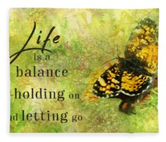Life Is A Balance Fleece Blanket