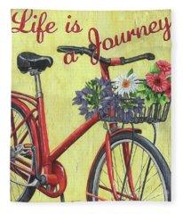 Life Is A Journey Fleece Blanket