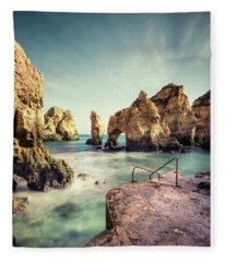 Life Is An Ocean Fleece Blanket