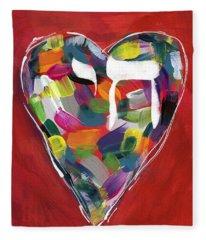 Life Is Colorful - Art By Linda Woods Fleece Blanket