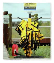 Life Jacket Station Fleece Blanket