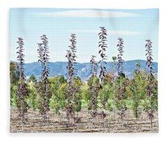 Life On A Tree Farm-foothills View #1 Fleece Blanket