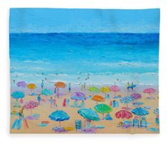 Life On The Beach Fleece Blanket