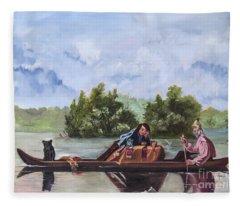 Life On The Missouri River Fleece Blanket