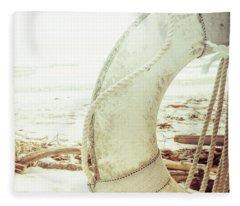 Life Ring Fleece Blanket