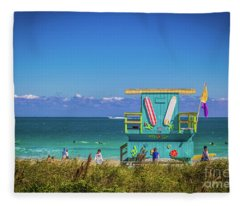 Lifeguard House 4457 Fleece Blanket
