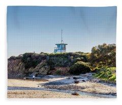 Lifeguard Shack #2 Fleece Blanket