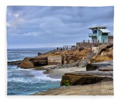 Lifeguard Station At Children's Pool Fleece Blanket