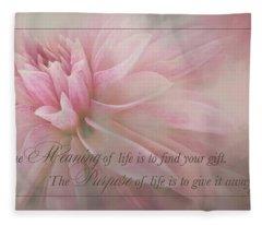 Lifes Purpose Fleece Blanket