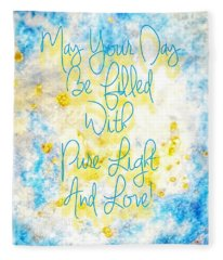 Light And Love Fleece Blanket