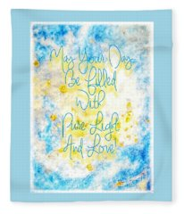 Light And Love Fleece Blanket