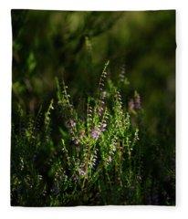 Light And Shadows On Common Heathers Fleece Blanket