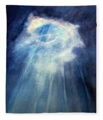 Light Beams Fleece Blanket