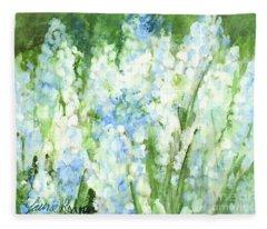 Light Blue Grape Hyacinth. Fleece Blanket