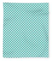 Light Blue Star Of David- Art By Linda Woods Fleece Blanket