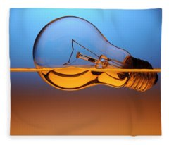 Light Bulb In Water Fleece Blanket