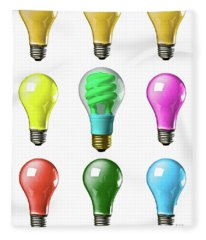 Light Bulbs Of A Different Color Fleece Blanket