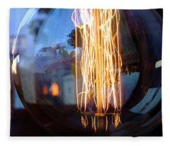 Light Elements Bulb In Detroit Michigan Fleece Blanket