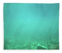 Light In The Water Fleece Blanket