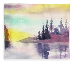 Light N River Fleece Blanket