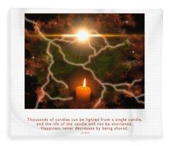 Light Of A Single Candle Fleece Blanket