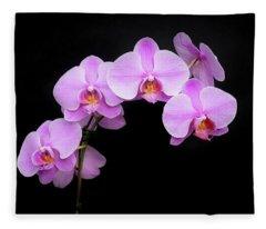 Light On The Purple Please Fleece Blanket
