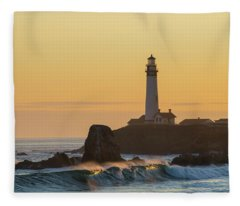 Fleece Blanket featuring the photograph Light On The Waves by Alex Lapidus
