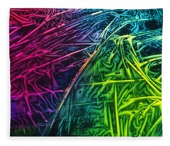 Light Painting Colors Abstract Experimental Chemiluminescent Photography Fleece Blanket