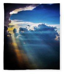 Light Shafts From Thunderstorm 2008 II Fleece Blanket