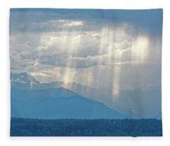Light Through Clouds Fleece Blanket