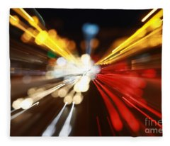 Light Trails Fleece Blanket