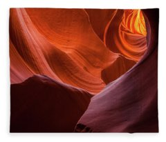 Light Tunnel - Antelope Lower Fleece Blanket