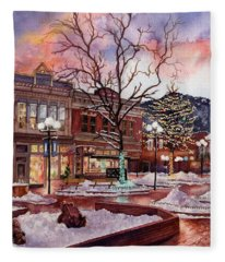 Light Up Heaven And Earth Fleece Blanket