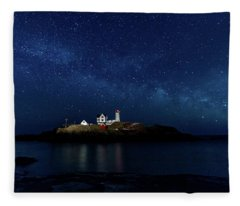 Light Up Nubble Lighthouse Fleece Blanket