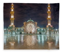 Lighted Federal Territory Mosque  Fleece Blanket
