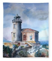 Lighthouse At Bandon Fleece Blanket