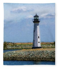 Lighthouse At Discovery Bay 1 Fleece Blanket