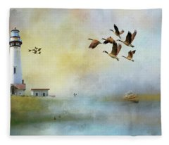 Lighthouse Bay Fleece Blanket