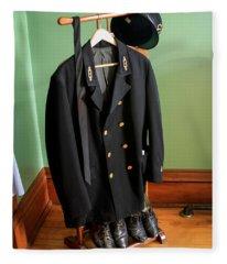 Lighthouse Keeper Uniform Fleece Blanket