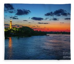 Lighthouse Light Beam Fleece Blanket