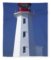 Lighthouse Peggy's Cove Fleece Blanket